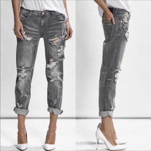 One Teaspoon Awesome Baggies Relaxed Fit Grey 24